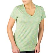 Reebok Women's Plus Size Spacedye Melange Vector T-Shirt