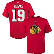 Reebok Youth Chicago Blackhawks Jonathan Toews #19 Player Red T-Shirt