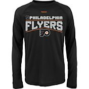 Reebok Youth Philadelphia Flyers Center Ice TNT Grey Performance Long Sleeve T-Shirt