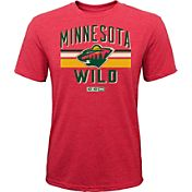 CCM Youth Minnesota Wild Classic Stripe Red T-Shirt