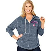 Soft As A Grape Women's Cleveland Indians Navy Hoodie