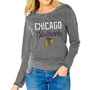 Soft As A Grape Women's Chicago Blackhawks Grey Fleece Sweatshirt
