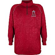 Stitches Men's Los Angeles Angels Red Quarter-Zip Pullover Fleece