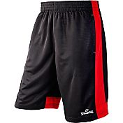 Spalding Men's Textured Solid Piecing Basketball Shorts