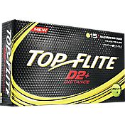 Top Flite D2+ Distance Yellow Golf Balls – 15-Pack