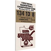 That's My Ticket Duke Blue Devils 1992 NCAA Final Four Canvas Mega Ticket