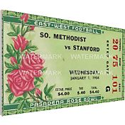 That's My Ticket Stanford Indians 1936 Rose Bowl Canvas Mega Ticket
