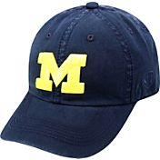 Top of the World Men's Michigan Wolverines Blue Crew Adjustable Hat
