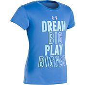 Under Armour Little Girls' Dream Big Play Bigger T-Shirt