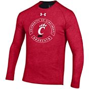 Under Armour Men's Cincinnati Bearcats Red Charged Cotton Long Sleeve T-Shirt