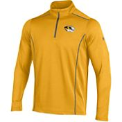 Under Armour Men's Missouri Tigers Gold/Grey Validate Quarter-Zip Shirt