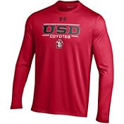 Under Armour Men's South Dakota Coyotes Red Long Sleeve Tech T-Shirt