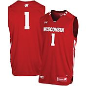 Under Armour Men's Wisconsin Badgers Red #1 Replica Basketball Jersey