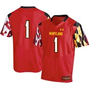 Under Armour Youth Maryland Terrapins #1 Red Replica Football Jersey