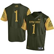 Under Armour Youth Notre Dame Fighting Irish Green #1 Shamrock Series Jersey