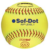 "Worth 10"" RIF Sof-Dot ASA Fastpitch Softball"