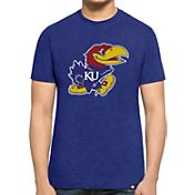 '47 Men's Kansas Jayhawks Blue Logo Club T-Shirt