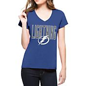 '47 Women's Tampa Bay Lightning Splitter Royal T-Shirt