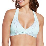 CALIA by Carrie Underwood Women's Lace Back Triangle Printed Bikini Top