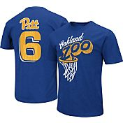 Colosseum Athletics Men's Pitt Panthers Blue 'Oakland Zoo' Throwback Basketball T-Shirt