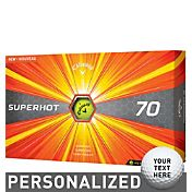 Callaway Superhot 70 Yellow Personalized Golf Balls – 15 Pack