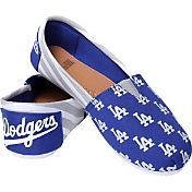 Forever Collectibles Los Angeles Dodgers Striped Canvas Shoes