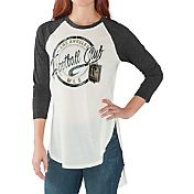 G-III for Her Women's Los Angeles FC Tailgate Three Quarter Sleeve Vintage White T-Shirt