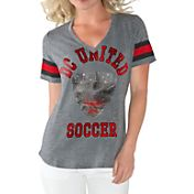 G-III For Her Women's DC United Triple Play Grey T-Shirt