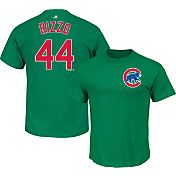 Majestic Men's Chicago Cubs Anthony Rizzo #44 Green T-Shirt