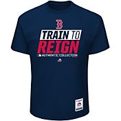 Majestic Men's Boston Red Sox 2017 Spring Training Authentic Collection Navy T-Shirt