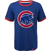Majestic Youth Chicago Cubs Ringer Royal T-Shirt