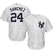 Majestic Youth Replica New York Yankees Gary Sanchez #24 Cool Base Home White Jersey