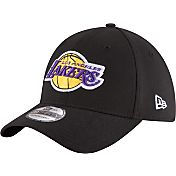 New Era Men's Los Angeles Lakers 39Thirty Black Flex Hat