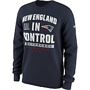 Nike Men's AFC Champions New England Patriots In Control Navy Long Sleeve Shirt