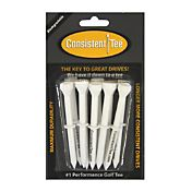 Consistent-Tee 3.25' White Golf Tees - 10 Pack